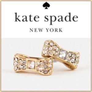 """NWT KATE SPADE """"Ready Set Bow"""" Pave Studs-Gold"""